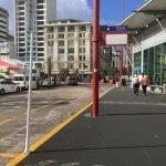 Bus stop at cruise terminal