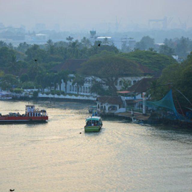 Sailing into Cochin