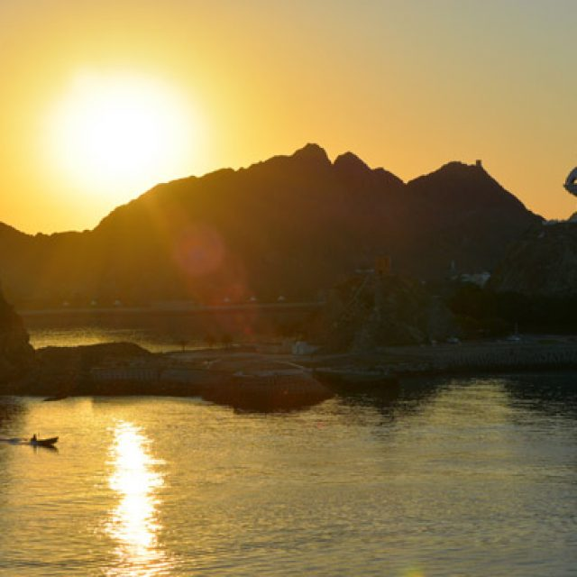 Sailing into Muscat