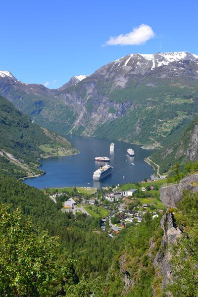 Cruise destination Geiranger, Norway